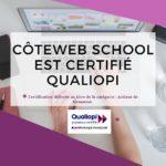 Côteweb School est certifié Qualiopi